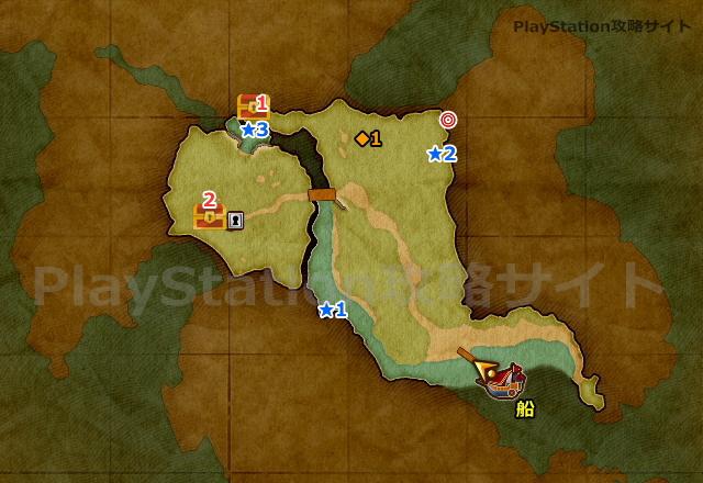 PS4版 ドラクエ11 バンデルフォン地方・東の島のマップ