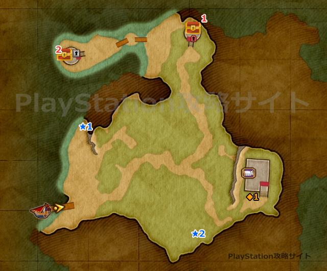 PS4版 ドラクエ11 メダチャット地方・西の島のマップ
