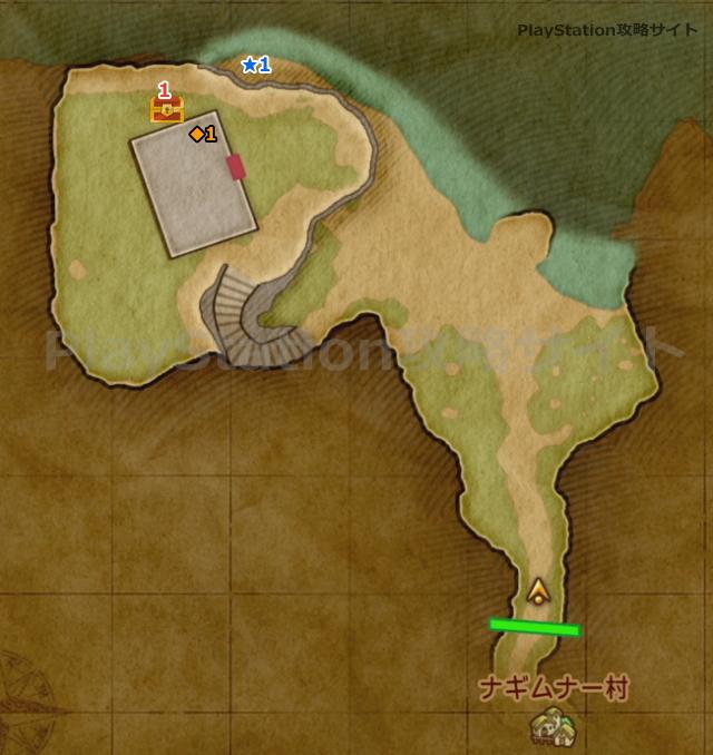 PS4版 ドラクエ11 しじまヶ浜のマップ