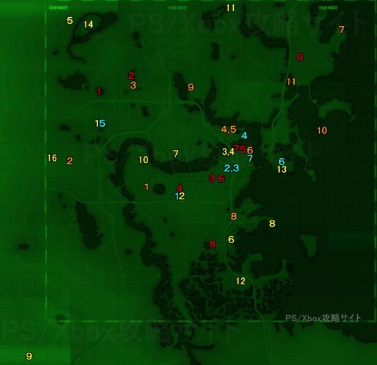 ユニーク武器の場所画像