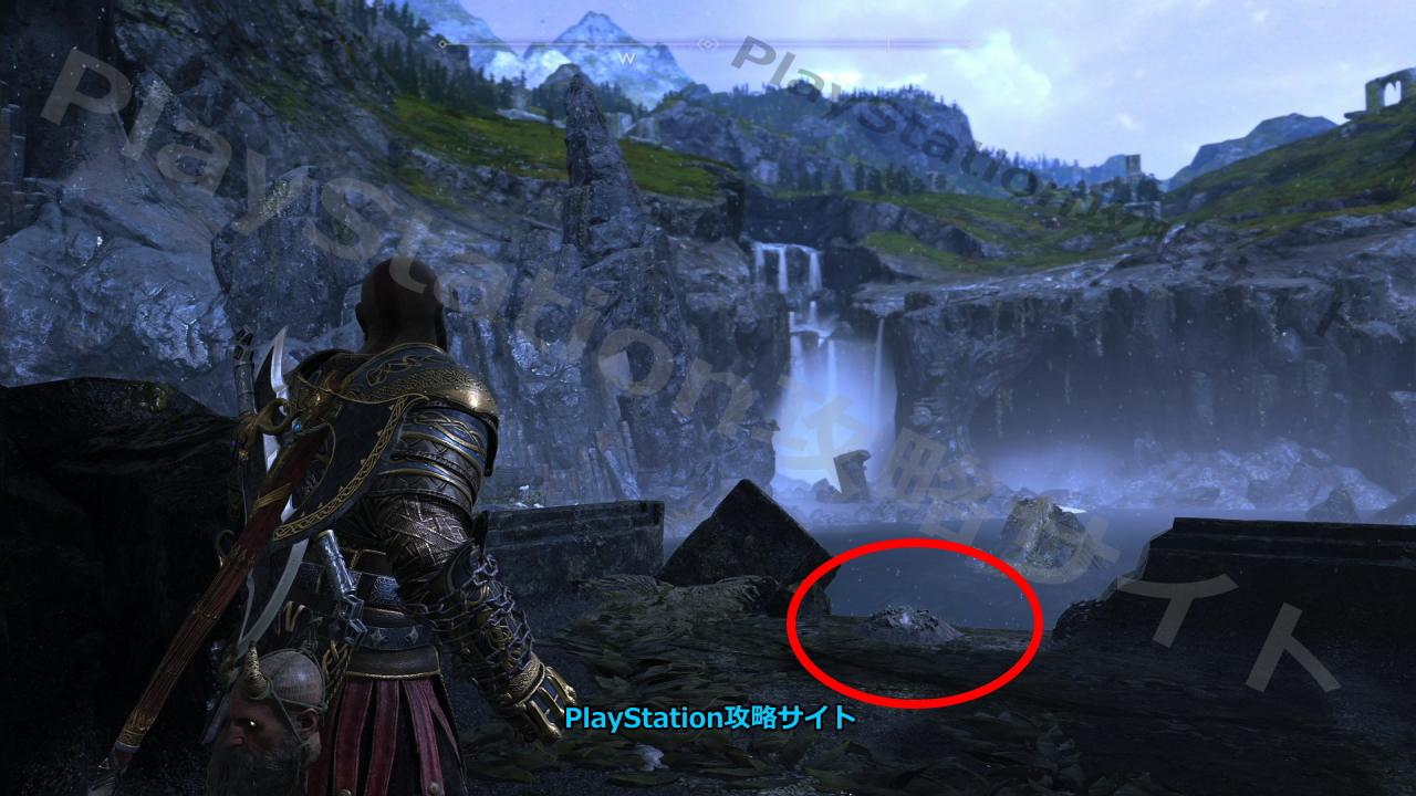 PS4 ゴッド・オブ・ウォー 宝の地図 光の島 宝物の場所