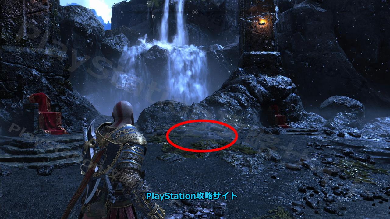 PS4 ゴッド・オブ・ウォー 宝の地図 灯台下暗し 宝の場所