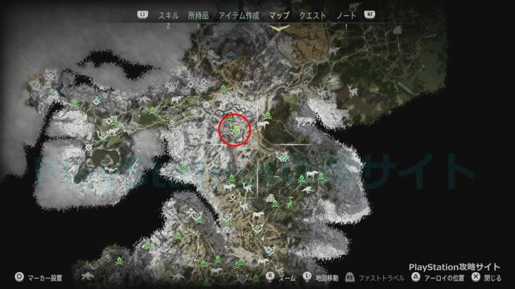 狩りの運 クエスト発生場所
