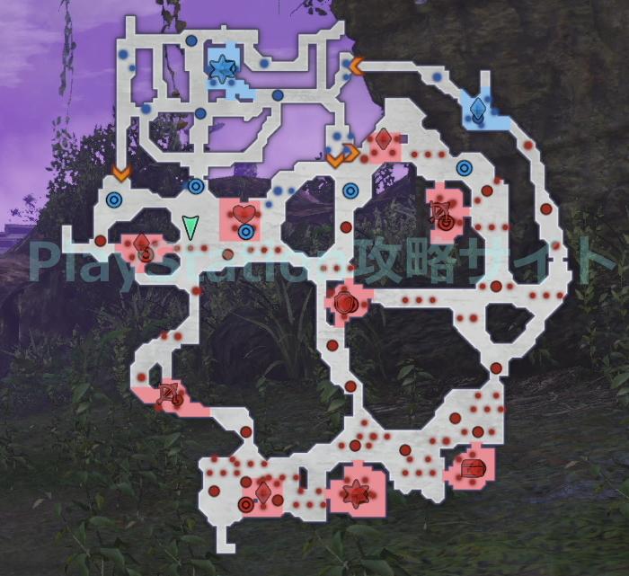 碑の欠片 清浄なる力 マップ