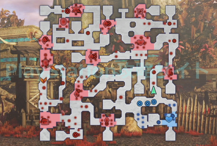 可憐なる花たち マップ
