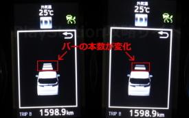 車間距離の表示