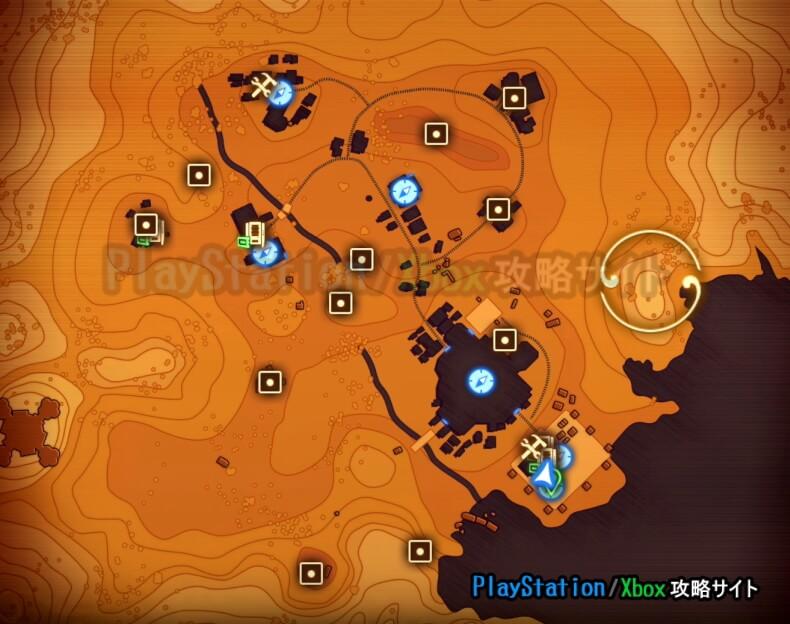 アウター・ワールド 惑星 テラ2 マップ